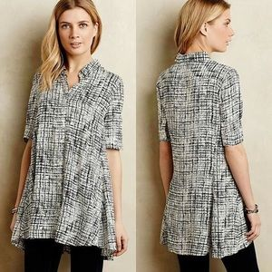 Anthropologie Tylho Black and White Adanne Tunic